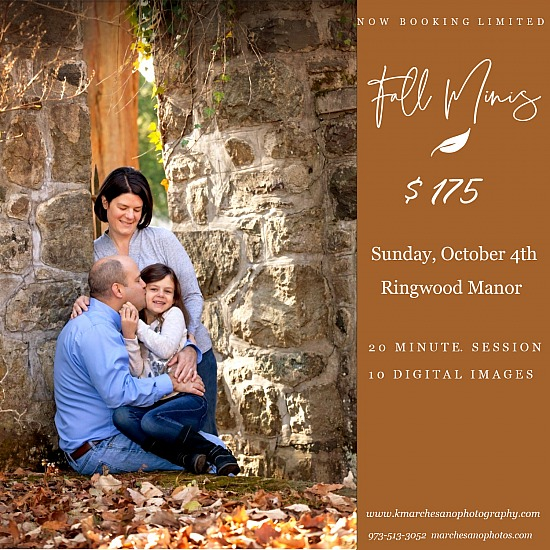 Fall 2020 Mini Sessions Sunday, October 4th